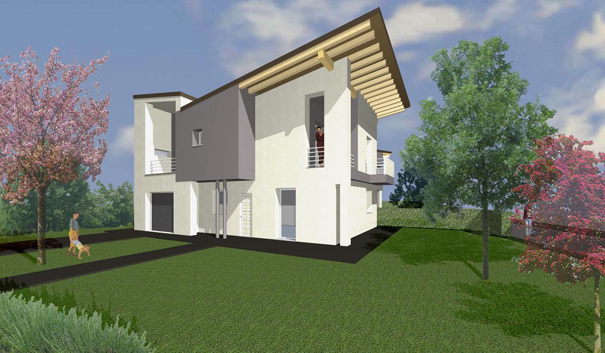 Nuove case bifamiliari studio rnd michele rondelli for Nuove case contemporanee