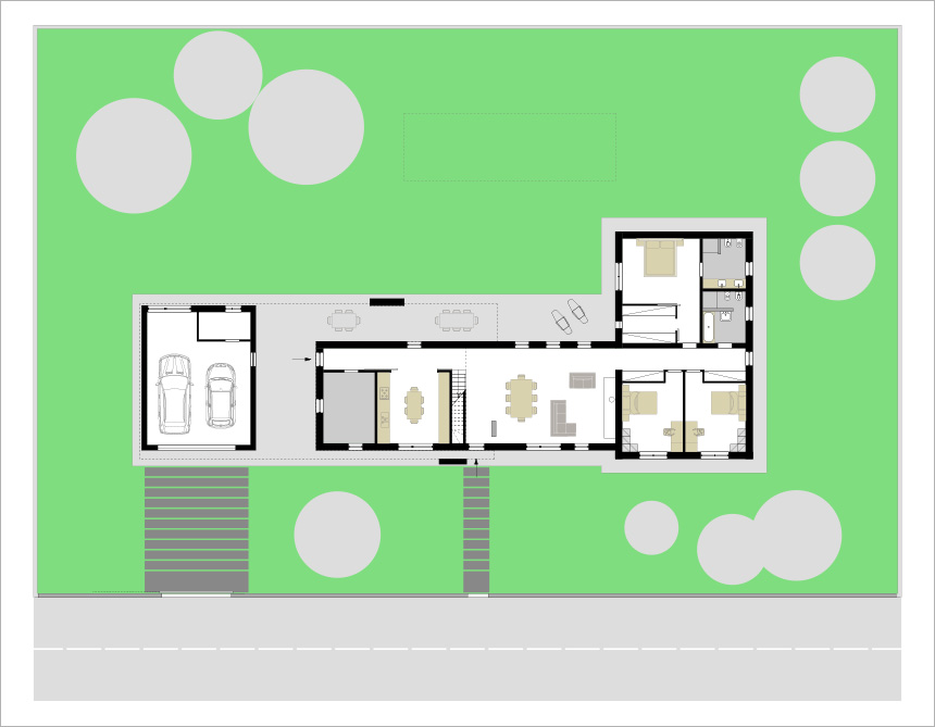 Architetto Michele Rondelli | Villa singola via Bernini | Ostiglia (MN)