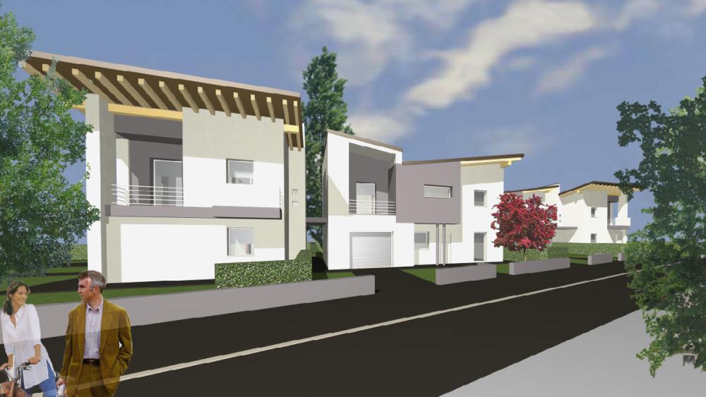Nuove case bifamiliari in via Zavattini | San Benedetto Po (MN)